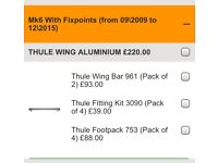 Thule roof set for Vauxhall Astra