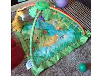 Baby forest babygym and playmat