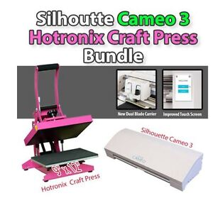 New Silhouette CAMEO 3 + Hotronix Craft Press Bundle