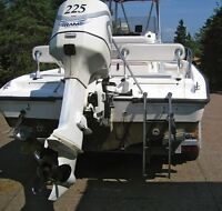 2001 Evinrude 225 ficht ram injected outboard motor ONLY 300 HRS