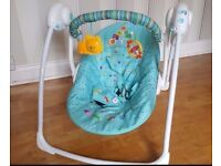 Brightstart baby swing with music as new