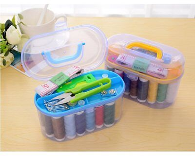 Used, Home Travel Thread Threader Needle Tape Measure Scissor Storage Box Sewing Kit for sale  Shipping to Nigeria