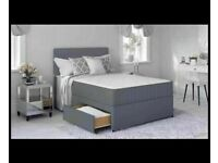 ⭐🆕 HUGE SALE LUXURY DIVAN BED BASES IN ALL SIZES & COLORS READY TO GO, GRAB ONE TILL STOCK LAST