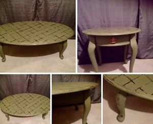 One of a Kind Coffee and End Table