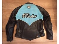 Ladies Leather Motorcycle Biker Jacket