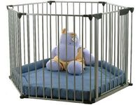 Playpen by BabyDan with thick padded mat, excellent condition, hardly used. Can deliver