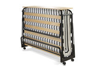 JAY-BE Venus Small Double Folding Guest Bed with Dual Density Airflow Mattress