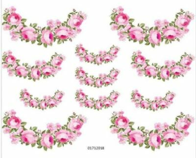 VinTaGe IMaGe PinK RoSe FLoRaL SWaGs SHaBbY WaTerSLiDe DeCALs TRaNsFeRs