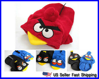 US Seller Pet Dog Cat Angry Birds Costume Hoodie Clothes XS S M L XL XXL   (Hund Angry Bird Kostüm)
