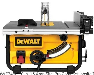 DeWALT DWE7480 Jobsite Table Saw, Brand New in Original Shrink-Wrap