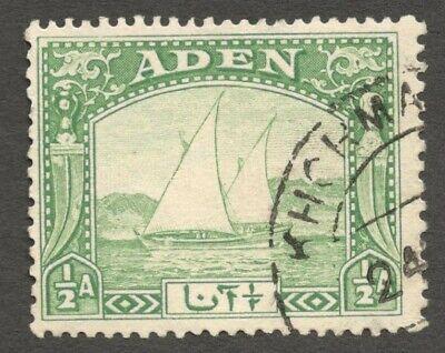 AOP Aden 1937 Dhow 1/2a used KHORMAKSAR