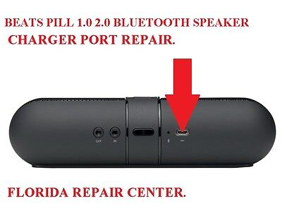 BEATS PILL 1.0 2.0 BLUETOOTH SPEAKER REPAIR SERVICE FOR MICRO USB CHARGING PORT
