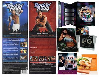 SEALED Beachbody Shaun T's ROCKIN' BODY DVD SET~7 Workouts/2 DVDs +Eating Guides