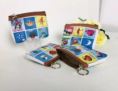 12PC Mexican Fiesta Party Favors Decorations Giveaways Bags Loteria Coin Purse - Fiesta Party Favors