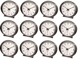 (12) ea Westclox Baby Ben 11611QA Retro Silver Battery Operated Alarm Clock