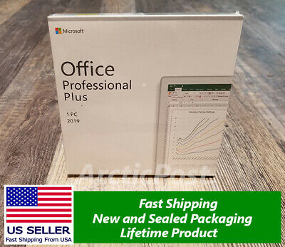 Microsoft Office 2019 MS Professional Plus Sealed with DVD Windows 10 RETAIL