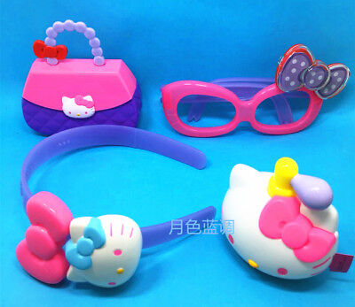 2018 Hello Kitty McDonalds Toys Completed Set 4 PCS Glasses Bag Headband