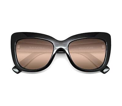 NEW QUAY Breath Of Life Black/Yellow Mirror Lens Sunglasses