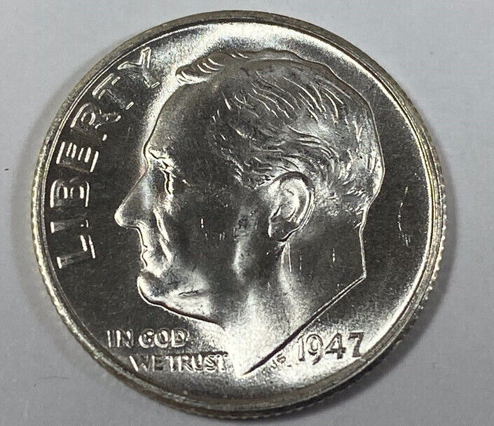 1947-S Silver Roosevelt Dime Choice/Gem Uncirculated  - Free Shipping