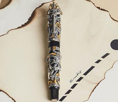 Montegrappa Ltd Edition The Pirates Sterling Silver & Yellow Gold Fountain Pen