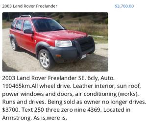 2003 Land Rover Freelander SE