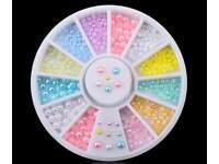 New Wheel Nail Art Rhinestone Pastel Color
