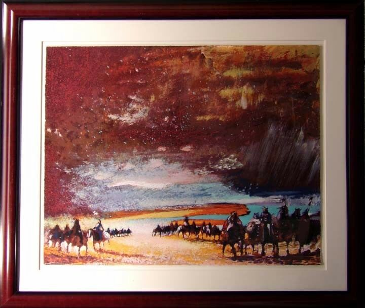 Earl Biss They Stood Like The Glory Of The Sun framed Hand Signed Make an Offer