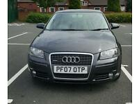 audi a3 for sale, 170 bhp, full AUDI service history, full MOT & Tax, HPI Clear, grey, 5 door, turbo