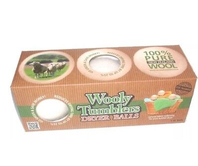 Wooly Tumblers Dryer Balls - 100% New Zealand Wool](Wooly Balls)