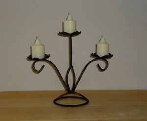 Petal Candle Holder with Gold Tones : New Candles, Like NEW