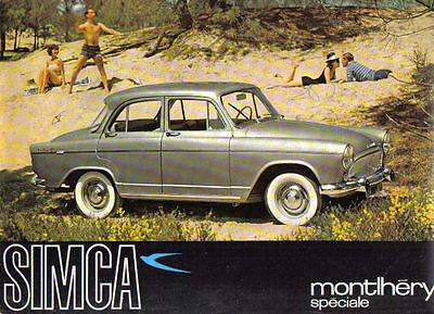 Simca Aronde Montlhery & Monaco Speciale circa 1962 Original UK Sales Brochure