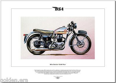 BSA ROCKET GOLD STAR - Motorcycle Fine Art Print - 650cc Parallel twin motorbike