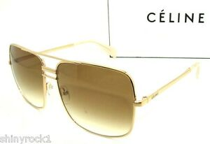 Authentic-CELINE-Gold-Sunglass-CL-41808-J5GXY-NEW