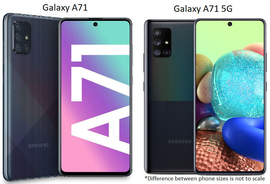 Android Phone - Samsung Galaxy A71 / A71 5G | 128GB | AT&T ONLY or GSM Unlocked Smart Cell Phone