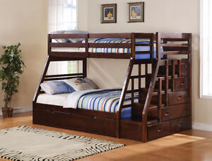 BRAND NEW ESPRESSO BUNK BEDS!!PAY AND PICK UP READY!!!!