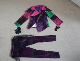 Disney store descendants mal costume age 5-6 girls fancy dress up F