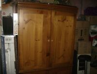 Beautiful Pine entertainment center or wardrobe.