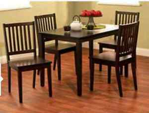 Searching for espresso dining table and chairs Edmonton Edmonton Area image 1