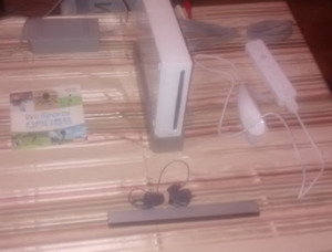 Nintendo Wii - Controller + Cables + Wii Sports Game