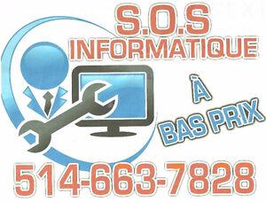 '' S.O.S INFORMATIQUE ''  AU  MEILLEUR  PRIX ! : )