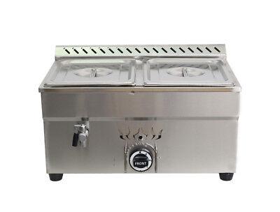 Propane Steam Table - 2-Pan LP Gas Bain-Marie Buffet Food Warmer 2-1/2Pans Propane