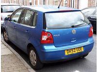 VW POLO 1.2 Petrol Low mileage 58.000! Long MOT 07/2017!