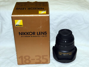 Nikon 18-35 f/3.5-4.5G ED - MINT Condition!!