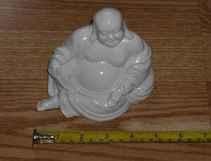 Classic pose White Ceramic Buddha Statue