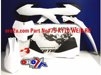 New Plastic Kit KTM SX SXF 125/250/350/450 13-15 Racetech Plastics White BN0-512