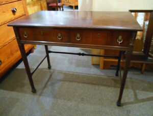 LOVELY VINTAGE HALL TABLE/DESK WITH DRAWERS AT CHARMAINE'S