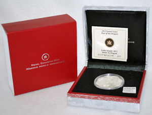 Canada 2012 Year of the Dragon  $15 Round Pure Silver Proof Coin