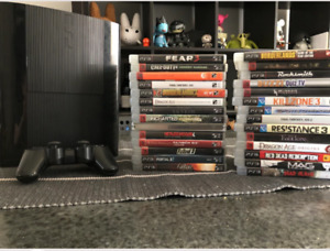 Tons of videogames and ps3 slim system