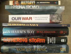 7 War and Canadian Navy Books