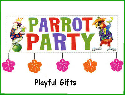 1 GIANT Parrot Party BANNER Luau 5 ft. Bar Cocktails Decoration](Giant Parrot)